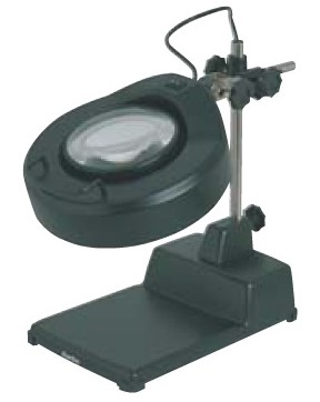 Carton loupe with LED ring lamp